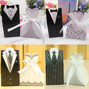 Tie Giyim Hediye Paketi Düğün Favor Favor Çanta Tatlı Kek Hediye Şeker Wrap Kağıt Kutular Çanta Yıldönümü Partisi Doğum Noel HH7-1821