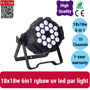 6x High Power 18x18W 6in1 RGB-UV-LED-PAR-Dose, LED-PAR 64, DMX-LED-PAR-Beleuchtung