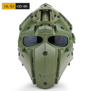 Av Paintball Cosplay Ttactical için Açık Tactial Kask Maske gözlük CS Koruyucu Euipment Toptan Ve Perakende kask