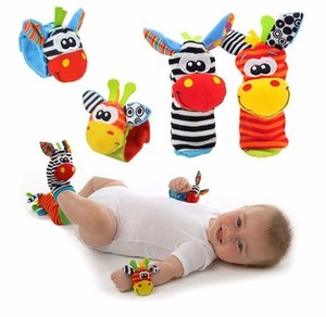 Cartoon Baby Toys 0-12 Months Soft Animal Baby Rattles Children Infant Newborn Wrist Strap Foot Socks