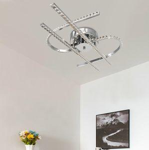 Moderno aluminio K9 cristal 48W LED luces de techo montaje empotrado lámparas de techo plafons lustre de cristal para comedor dormitorio