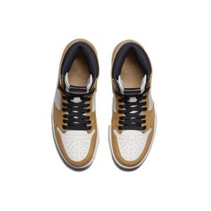 Rookie of the Year TOP versione di fabbrica 1 grano bianco di pallacanestro scarpe da uomo formatori Nuovo 2018 Sneakers cuoio genuino con la scatola
