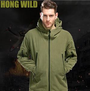 Extérieur Polaire Softshell Polaire Homme Armée Polartec Sportswear Chasse Thermale Randonnée Sport Hoodie Veste 2018 Militaire Tactique