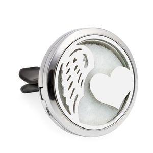 Сердце с крылом Роза аромат медальон эфирное масло автомобиля диффузор медальон свежий воздух вентиляционные клип кулон духи медальон магнитный случайно 10 колодки