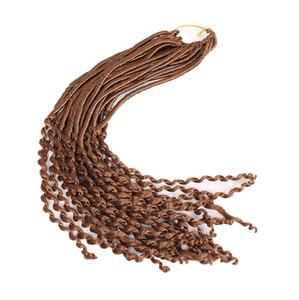 Длинный размер Fuax locs Nu Дреды GODDESS CROCHET BRAIDS 22-дюймовые искусственные локоны-косы наращивание волос синтетическое плетение волос Janet Collection