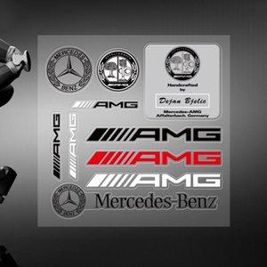 Autocollant de voiture de haute qualité Mercedes AMG Decal Emblem Badge pour Benz