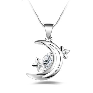 Silver Jewelry Pendant Fine Inlaid zircon silver jewelry 925 jewelry silver plated Necklace Pendants Fashion gift necklace Top Quality
