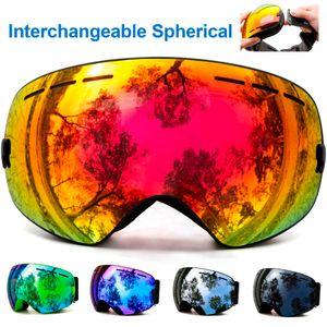masque de ski, lunettes de ski, doubles couches hommes protection UV ski anti-buée femmes lunettes de snowboard neige lunettes de snowboard sport