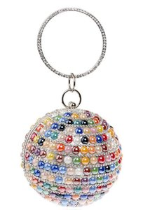 The Latest Variety Of Colors European and American Explosion Round Spherical Bag Diamond Bag Ladies Bag