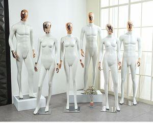 Style de la mode Complet du corps Mannequin Féminin N Mâle Mannequin en Fibre de Verre Professionnel Usine Vente Directe