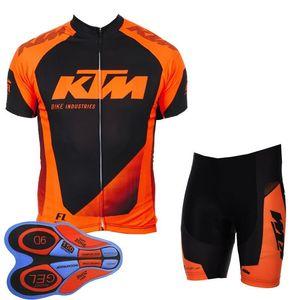 Set di pantaloncini in jersey a maniche corte da ciclismo della squadra KTM Nuova felpa da ciclismo mountain bike estate vendita calda F2511