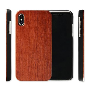 Iphone X XR XS Max 8 6 s artı Gerçek Ahşap Durumda Sıcak Satış Bambu Ahşap Cep Telefonu Kapak Kılıfları Samsung Galaxy Not 9 S9 S7 S6 kenar