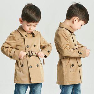 Original Single England Children Loose Coat 2018 Spring Catamite Windbreaker Loose Coat Both Row Buckle Baby Windbreaker Jacket Tide