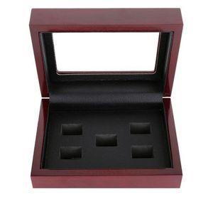Caixa De Madeira Anel De Campeão Display Case Caixas De Madeira Para O Anel 2 3 4 5 6 Furos Para Escolher Anéis e Coleção Frete Grátis