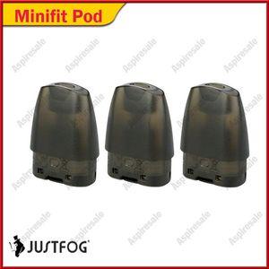 Orijinal Justfog Minifit Pod 1.5 ml ile 1.6ohm Japon Organik Pamuk Bobin boş vape kalem kartuşları