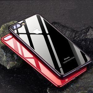 Для apple iphone Xs Mas XR X 8 plus прозрачный мягкий TPU сотовый телефон случаях силиконовый защитный прозрачный чехол назад Shell