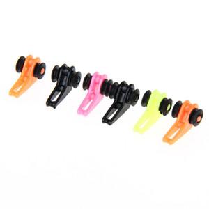 6 Unids caña de pescar de plástico poste gancho Keeper señuelos ganchos Safe Spoon cebo porta agudos pequeña herramienta de pesca accesorios color al azar