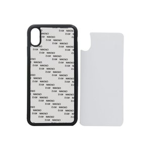 60 unids / lote 2D Sublimación Funda de silicona para iPhone Xs Cubierta de goma de transferencia de calor para iPhone Xr Xs Max con placa de aluminio