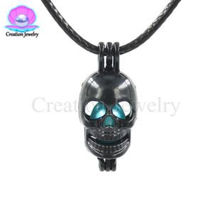 Black Skull Head Pearl Cage Beads Cage Locket Pendant Creazione di gioielli Forniture-Per perle di ostriche, Diffusore di oli essenziali, Regali divertenti