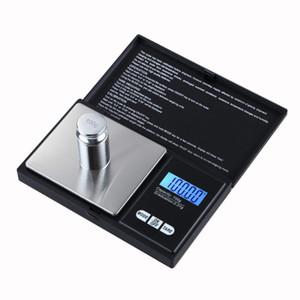 Nueva llegada 100 g / 0.01g Balquillas portátiles de bolsillo para la moneda de plata Joyas de diamante de oro Balanza de peso Herramientas de cocina para fumar accesorios