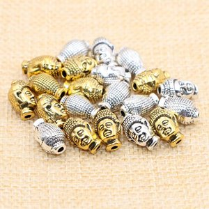 2018 Newest Silver Gold Buddha Head Charm 12mm Buddha Meditation Charms Diy Fashion Accessories Fit Sandalwood Beaded Bracelets