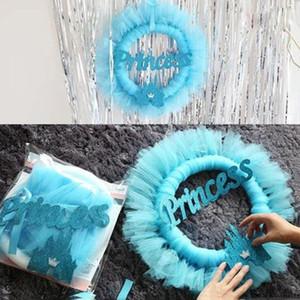 새로운 디자인 아기 방 장식 핑크 또는 블루 공주 성 링 원사 장식 생일 파티 아기 파티 장식 홈 샤워