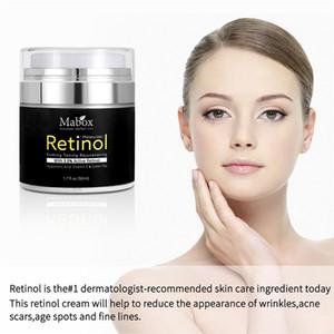 Mabox 50ml Retinol 2,5% Feuchtigkeitsgesichtspflege Creme Akne-Behandlung Vitamin E Collagen Creme glätten