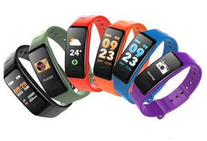 C1S Trackers fitness inteligente Pulseira Atividade Heart Rate Monitor de Pressão Arterial IP67 impermeável inteligente Wristand para iOS Smartphone Android