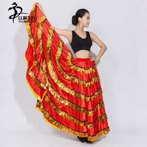 FamencoSkirt 2017 New Gypsy saia / Belly Dance Skirt / Flying Skirt / Flamenco / Dança do Ventre