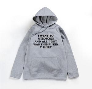 Пары Wear Толстовки для мужчин Женщины Трэвис Скотт AstroWorld пуловеры с капюшоном