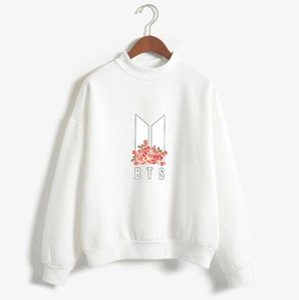 Kpop BTS Hoodies Frauen Bangtan Boys BTS Album Herbst Fleece Winter Neue BTS Blumendruck Moletom Drop Shipping