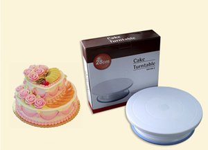 Baking Cake with Non-slip Plastic Turntable Stencil Turntable Flexible Portable Comfort Perfect Food Making Flower Table