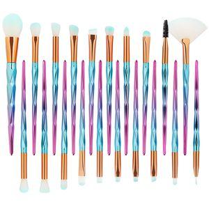 MAANGE 20 Stücke Shell Make-Up Pinsel Set Foundation Powder Lidschatten Augenbraue Lippenpinsel Blending Make-Up Pinsel Werkzeuge Beauty Essentials