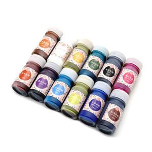 10 ml de Alta Concentración Resina UV Colorante Líquido Colorante Pigmento Epoxi 10 Colores para DIY Joyería Fabricación de Artesanías LXH