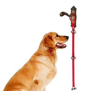 애완 동물 초인종 로프 개 고양이 장난감 집 훈련 및 통신 경보 도어 벨 개 편리한 실용적인 애완 동물 용품 가죽 끈 액세서리 nt