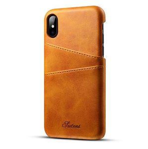 Combinaison shell carte collection cas de protection pour iphone 7 7 Plus 6 6 X Samsung Galaxy S8 S9 cuir iphone8 carte anti-goutte Etui portefeuille