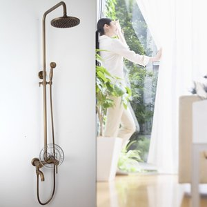 High quality Antique classic Brass 8 inch for the bathroom Chromed faucets bathroom shower GZ6002