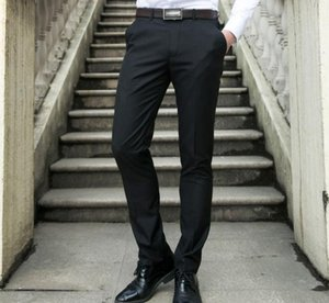 Men's Bussiness Pants high grade black frock Slim trousers non-iron business career straight ventilation Cargo Pants