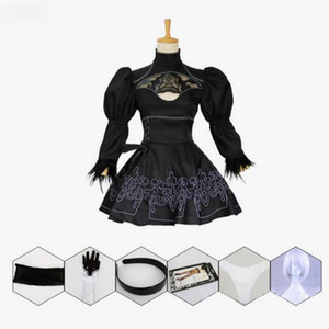 Nier Automatas 2B Disfraz de Cosplay Yorha No. 2 Modelo B Neal Era Actriz Anime Black Maid Dress Disfraces