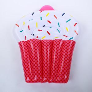 Niedlichen Dessert Design Aufblasbare Schwimm Reihe Verdickung PVC Kreative Kuchen Schwimmen Ring Erwachsene Pool Spielzeug Matte Für Wasser Spiel 65bq Y