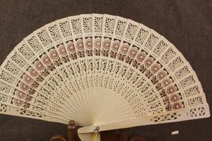Fans de mariage chinois Fans de bois chinois Accessoires de mariée faits à la main 8 '' Fancy Cheap Wedding Favors Petits cadeaux pour invités Fans Fans