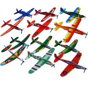 36 adet / grup Toptan Bulmaca Sihirli Uçan Planör Uçak Düzlem Köpük Geri Uçak Çocuklar Çocuk DIY Eğitici Oyuncak sıcak satmak
