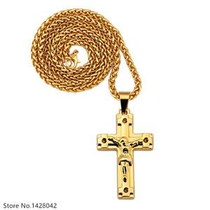 Religioso Gesù che attraversa ciondoli collane Uomini \ Donne Bling Chiesa Bibbia Signore catene di preghiera regalo gioielli Hip Hop