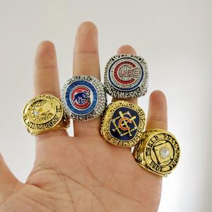 Nova Chegada dos Campeões anel Chicago 2017 1907 1908 Cubs Campeonato Mundial de Fã Anel de Presente de alta qualidade por atacado Transporte da gota