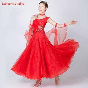 4 colors Dance Dance Dresses Women New Sexy Backless Waltz Costume Adult Ballroom Competition Standard Dresses