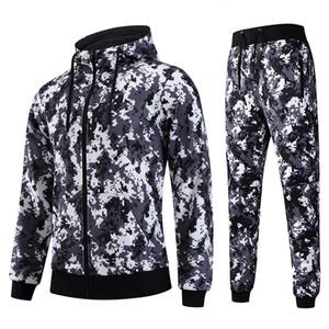 AIRAVATA  Clothing Mens Tracksuit Sportswear Hoodies Pants Men Full Printing Set Mens Stylish Designer Sweatsuit Man