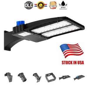 O estoque no parque de estacionamento de US + LED Shoebox ilumina 100W 150W 200W IP66 Waterproof a luz exterior de Pólo da rua com o UL DLC alistado