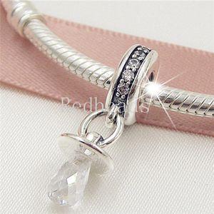 Yeni% 100 S925 Gümüş emziği kolye Dangle Charm Boncuk Avrupa Pandora Stil Takı Bilezik uyar