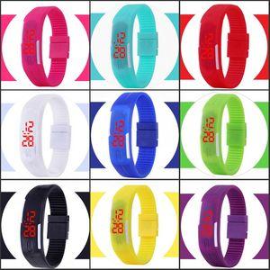rectangle watch Bracelet boys girls Touch LED Watch Sport digital men women unisex jelly candy rubber silicone wrist Watch wristwatch