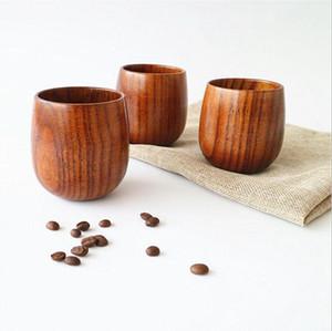 Bicchiere da tè in legno in stile giapponese da 5 once Bicchieri da vino in legno naturale da 150 ml Bicchieri da caffè in legno Bicchieri da birra per succhi di frutta